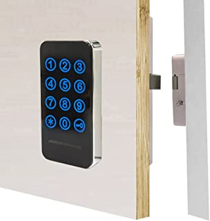 Electronic Cabinet Lock Kit Set Digital Touch Keypad Cabinet Lock Password Entry and RFID Card / Wristband Entry Keyless C...
