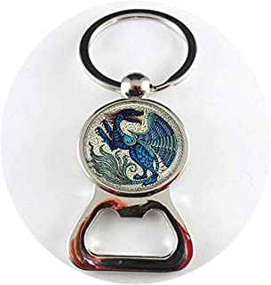 De Morgan Winged Beast Dragon Jewelry Blue Dragon Mythical Beast Medieval Bottle openers