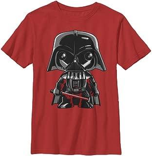 Star Wars Boys' Big Cartoon Funk Darth Vader Emoji Graphic Tee
