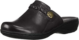 Women's Leisa Carly Clog, Black Leather, 090 M US
