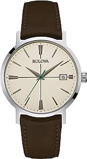 Bulova - Reloj Analogico para Hombre de Cuarzo con Correa en Piel 96B242