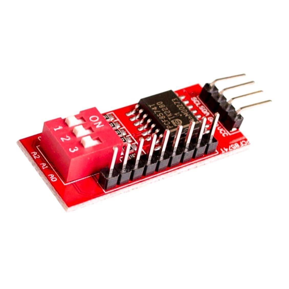 正当な曇ったフォーマットPCF8574T IO拡張モジュールIO拡張シールドIIC I2C W/DIPスイッチ付き