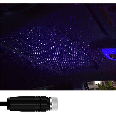 Zeagro Auto Atmosphäre Lampe Dach Nachtstern Lichter Innen Ambiente Stern Licht Usb Romantisch Dekorative Licht Für Auto Haus Party Lila Küche Haushalt