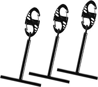 SF 3PCS Fly Fishing Tippet Spool Holder Black Tippet T Spool Holder Bar