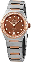 Omega Constellation Automatic Diamond Brown Dial Ladies Watch 131.25.29.20.63.001