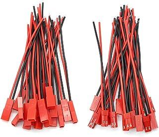 D-Orange 20 paar JST connectors 22 AWG JST 2-pins stekker mannelijke en vrouwelijke connector adapter met 100 mm elektrisc...