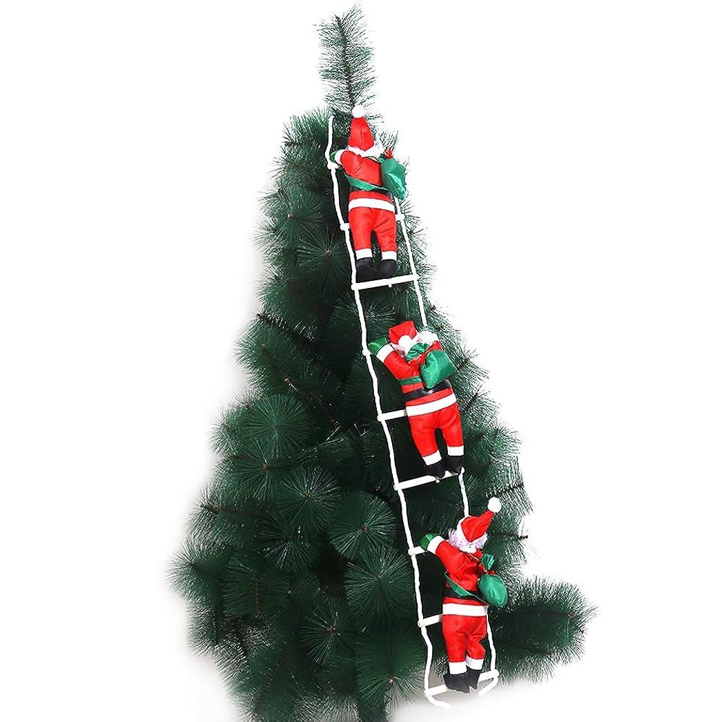 窒素ご近所投獄CCINEE クリスマス 飾り はしごサンタクロース サンタはしご クリスマスツリー飾り サンタ人形はしご 三人100cm サンタクロース はしご はしごのサンタ クリスマスはしご ドアの装飾 ホームインテリア クリスマスデコレーション ドアオーナメント インテリア飾り クリスマスパーティー吊り装飾用 クリスマスプレゼント、ギフト