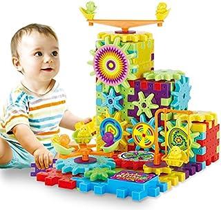 81pcs Interlocking Building Blocks y engranajes Juguete Set con ruedas giratorias motorizados regalo perfecto para niños Kids Puzzle Bricks Gear ruedas construir en su propia Idea Make More Fun