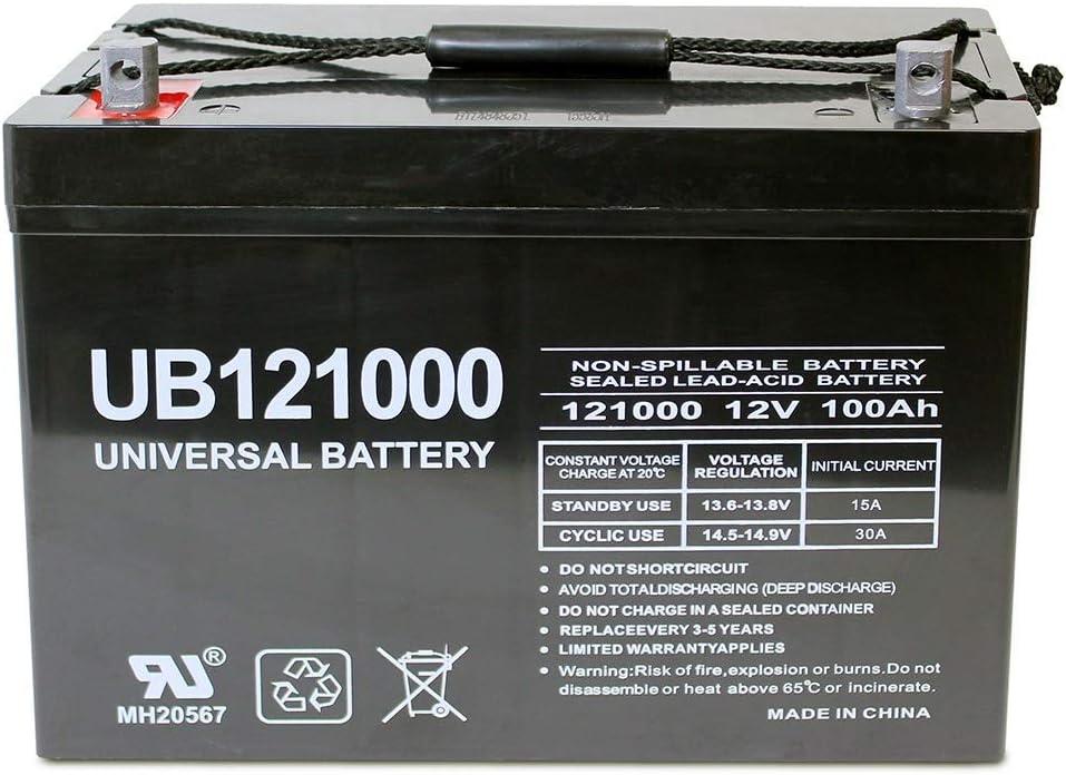 Universal Power Group 12V 100Ah Solar Wind Battery