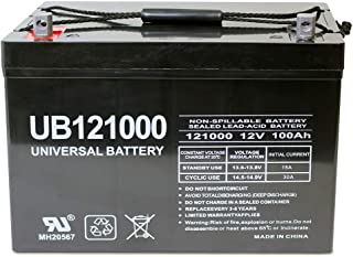 Universal Power Group 12V 100Ah AGM Sealed Lead Acid Battery UB121000 Group 27