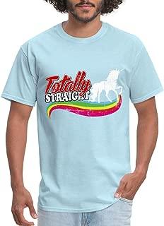 Totally Straight Unicorn LGBT Men's T-Shirt