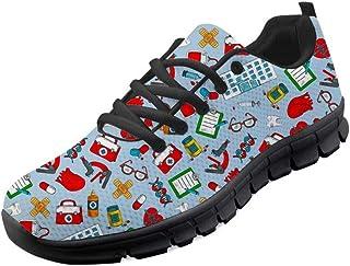 chaqlin Chaussures de sport décontractées pour homme et femme - Pour jogging, fitness, gym - Avec lacets - 5 couleurs