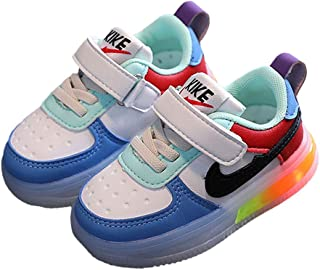Hopscotch Fanyi Boys and Girls Rubber Velcro Applique Athletic Shoes in Blue Color