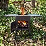 Estufa De Tienda De Campaña, Estufa De Leña Con Chimenea, Parrilla De Cocina Plegable Ultraligera Para Estufa De Camping