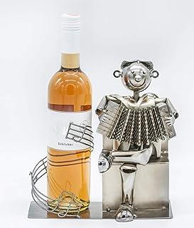 Porte-bouteille Harmonica joueur Accordéon avec notes de musique Cadeau vin