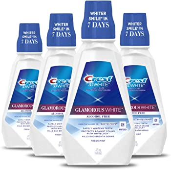 4-Pack Crest 3D Multi-Care Whitening Fresh Mint Flavor Mouthwash, 16 fl oz