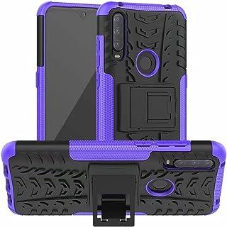 Jtailhne Kompatibel med Fodral Alcatel 3L 2020, Heavy Duty StöTsäKer Fodral med SparkstäLl Skal PC TPU Hybrid Rugged Armor...