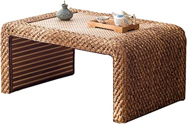 Coffee Table Rattan Tatami Platform Table Solid Wood Window Table Chinese School Low Table Small Coffee Table Tables (Size :
