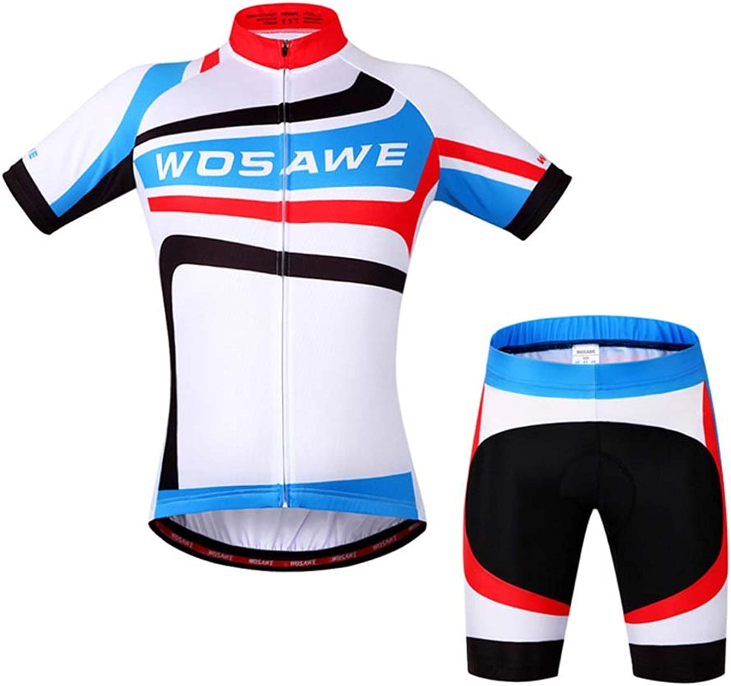 Mens Cycling Jersey Short Sleeve Shirts and Shorts Cycling Suits Quick Dry 3D Gel Padded Biking Clothing Sportswear