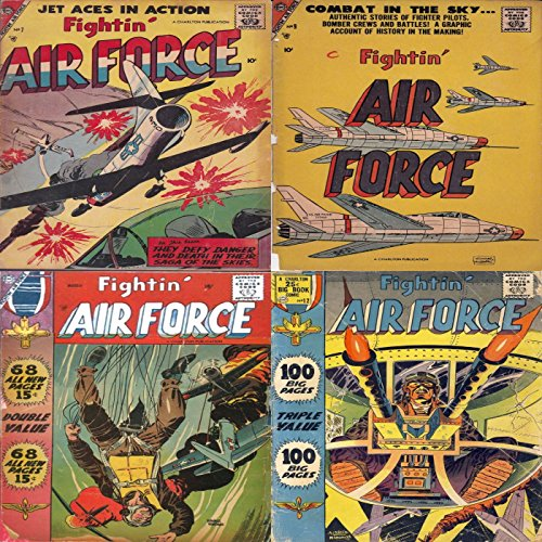 Fightin Air Force. Issues 7, 9, 11 and 12. Jet aces in action. They defy danger and death in their saga of the skies. Authentic stories of fighter pilots, ... battles. Military & War (English Edition)