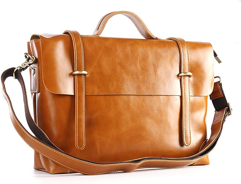 GYDLL Herren Umhängetasche Handtasche Business Bag Aktentasche Leder Tasche Leder Herren Tasche B07Q1CGN94