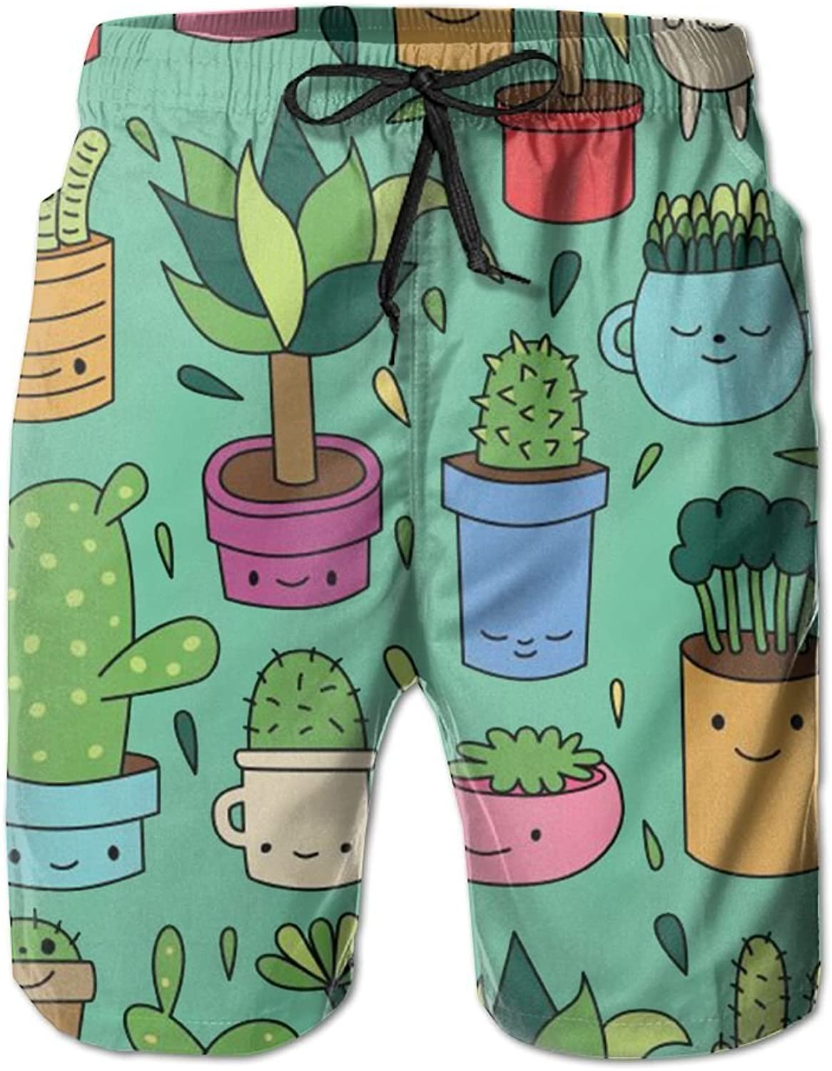 a9c21a6f15a Game Life Shorts Shorts Shorts Cactus Mens Tree Quick Dry Swim Trunks Beach  Shorts with Mesh Lining 6c07fa