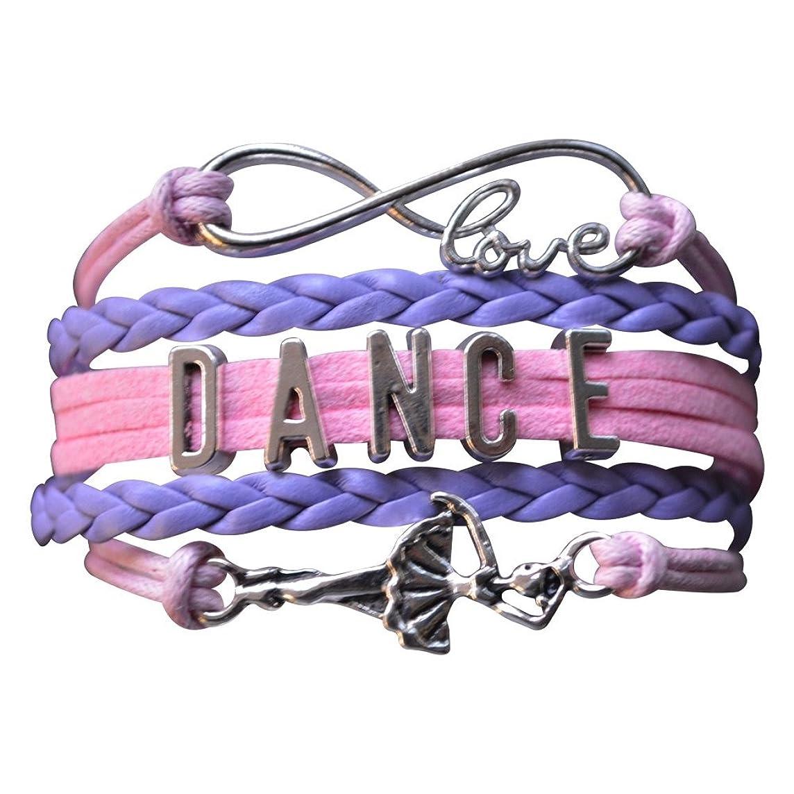 Infinity Collection Dance Bracelet- Dance Jewelry -Ballerina Charm Bracelet for Dance Recitals & Dancers, Dance Moms & Dance Teachers