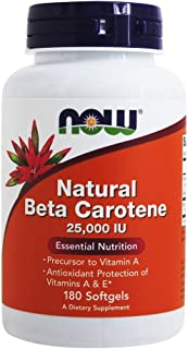 Now Foods Beta Carotene (Natural) - 180 Softgels 6 Pack