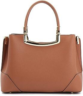 First Layer Cowhide Handbag/Handbag/Shoulder Messenger Bag/Ladies Simple Bag. jszzz (Color : Brown)