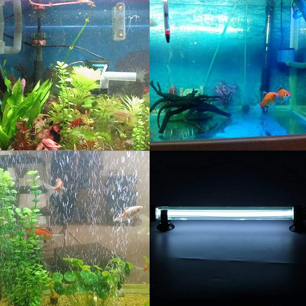 Toolso 15W Waterproof Water Filter Cleaner Aquarium Fish Tank Collection UV Sterilizer Ultraviolet Lamp EU/US Plug