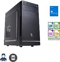 Ordenador de sobremesa Intel Quad Core 2 GHz, Ram 8 GB, Ssd 240 GB, Lector de quemadores, Windows 10, computadora para la Oficina en casa, Open Office, Antivirus