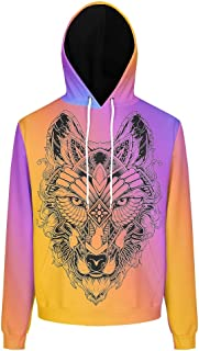 Unisex Hoodie Women Wolf Theme Funny - Wolf with Pocket Soft & Cozy Autumn Tops