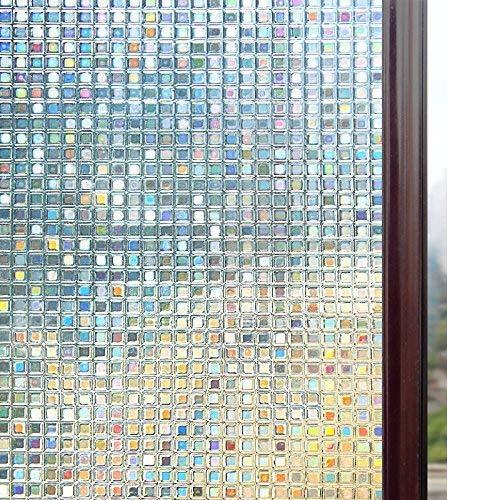 Rabbitgoo 3D Window Films Privacy Film Static Decorative Film Non Adhesive  Heat Control Anti UV