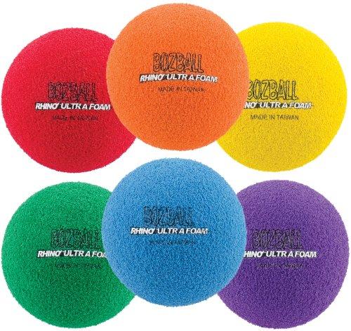 Champion Sports Rhino Foam No-Bounce Balls, Set of 6