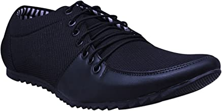 Esense Men's Blue Black Synthetic Casual Shoes