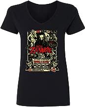 RIVEBELLA New Graphic Horror Movie Novelty Tee Zombie Dead Return Womens Vneck T-Shirt