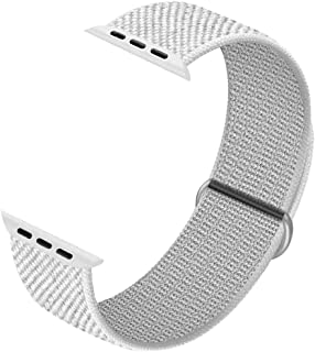 JuQBanke Compatible with Apple Watch 38mm 40mm 42mm 44mm Band iWatch Series 5 4 3 2 1, Sports Weave Strap Women Men Loop Wristband Replacement Adjustable Elastic Fabric Cloth Breathable