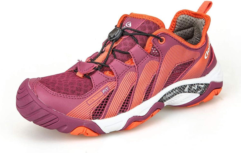 LIDH-Outdoor sports Im Freien Sport Schuhe Frau Rutschfest VerschleifBfest StoBdampfung Atmungsaktiv Leichtgewicht Schnell trocknend Waten Schuhe (Farbe   lila, Größe   EU36=UK3.5=L230mm)