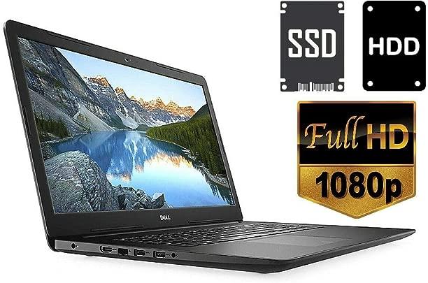 Laptop Inspiron 3782 8GB DDR4-RAM 256GB SSD 1TB HDD CD DVD Brenner Windows 10 PRO 44cm  17 3 quot   Full HD Display Matt