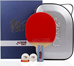 DHS Hurricane Table Tennis Racket Ping Pong Paddle Inverted Rubber Double Pimples-in Bats
