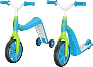 Macwheel MK2 Toddler Scooter, Convertible 4-in-1 Ride-On Balance Trike & Training Bike, Kick Scooter for Kids Ages 2-5