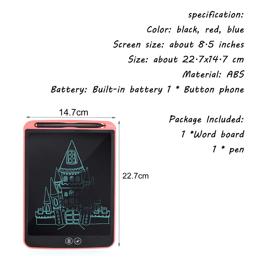 Puzzle Graffiti Early Education Electronic Small Drawing Board GD-LZAN 8.5 Inch LCD Partial Erasable Lock Function LCD Handwriting Board