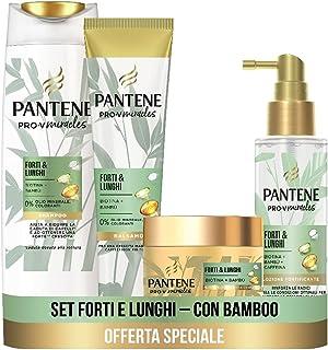 Pantene Pro-V Miracles Forti&Lunghi, Set con Shampoo Anticaduta 225 ml, Balsamo Capelli 160ml, Maschera Capelli 160ml, Sie...