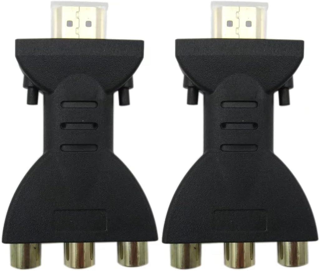 Unbrella 2PC HDMI to 3 RCA Composite Video Vi Elegant Audio Converter AV Cheap