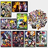 GTOTd Anime posters Wall Poster 8 Pcs 11.5' x 16.5'- (with anime stickers 20Pcs)- Unframed Version Poster with Random Anime Stickers 20Pcs