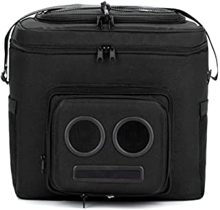 The #1 Cooler with Speakers on Amazon. 20-Watt Bluetooth Speakers & Subwoofer for Parties/Festivals/Boat/Beach. Rechargeable, Works with iPhone & Android (Black, 2020 Edition)