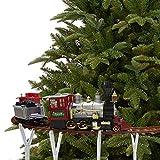 Mediawave Store - Treno per Albero di Natale a Batteria 258108 Trenino a Batteria con 36 pz Luci Melodie Natalizie, Addobbi di Natale Trenino da collocare al Centro dell'Albero di Natale