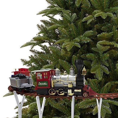 Mediawave Store - Treno per Albero di Natale a Batteria 258108 Trenino a Batteria con 36 pz Luci...