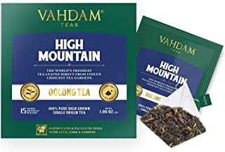 VAHDAM, High Mountain Oolong Tea Bags, 100 Count   100% Detox Tea   Oolong Tea for Weight Loss   Detox Tea   Oolong Tea Bags 100 Count   Brew Hot, Iced or Kombucha Tea   Packed at Source in India