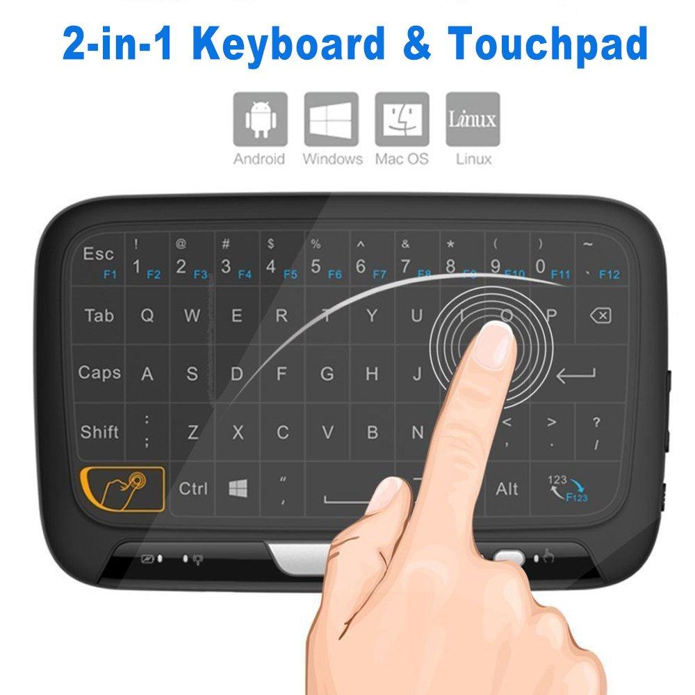 SEGURO Mini Combo de ratón touchpad remoto Teclado inalámbrico de 2,4 GHz para Android TV Box, caja de Google TV, IPTV, Smart TV y Más: Amazon.es: Electrónica